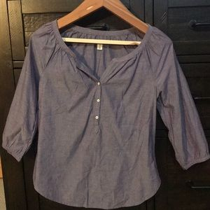 Purple mid sleeve blouse